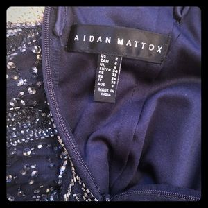 Aidan Mattox formal embellished column gown